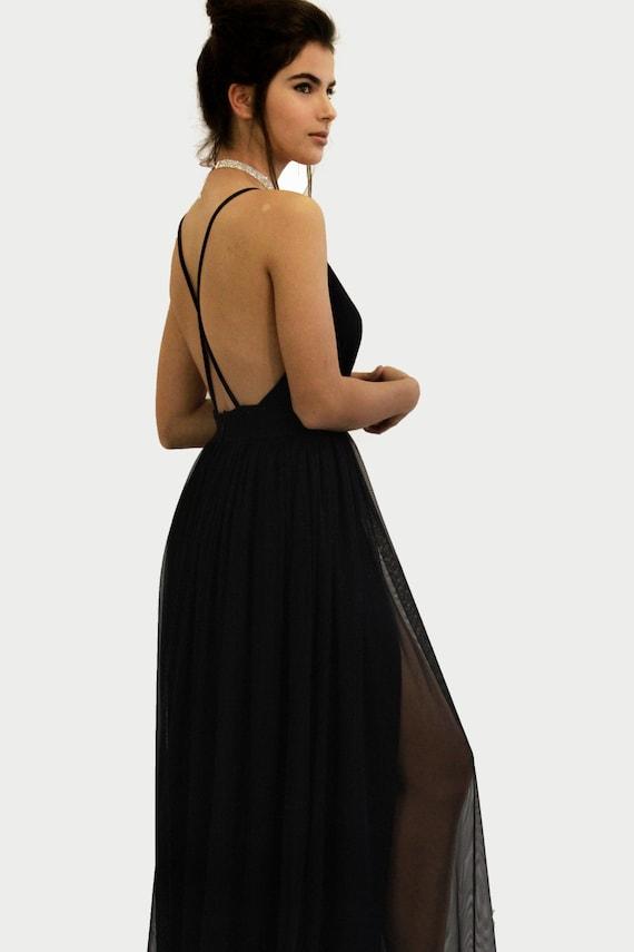 9c2cf754e8 Black Prom Dress Black Dress Black Long Dress Black Party
