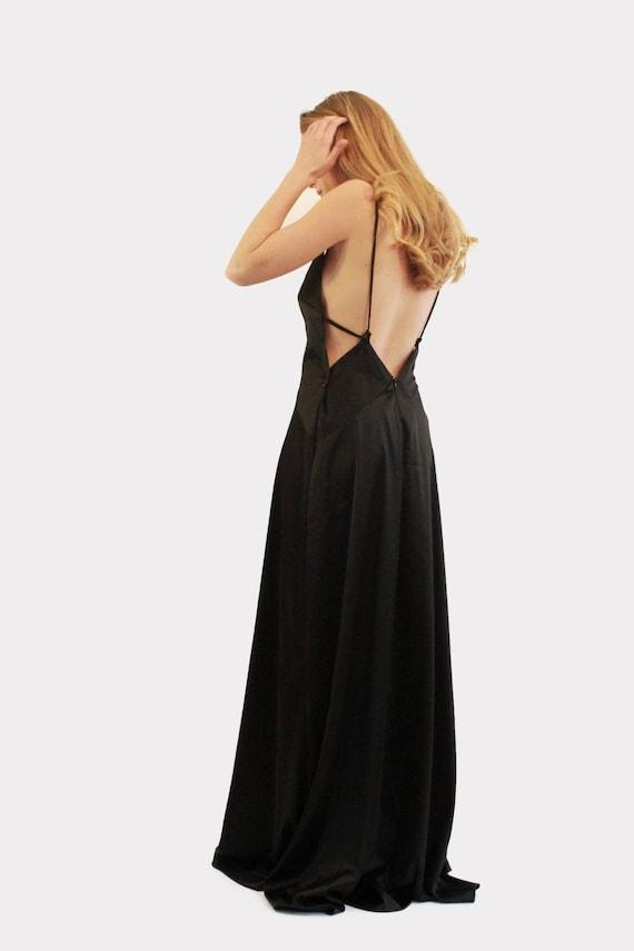 Robe Longue Robe De Bal Noir Robe Noire Robe Longue Noir Etsy