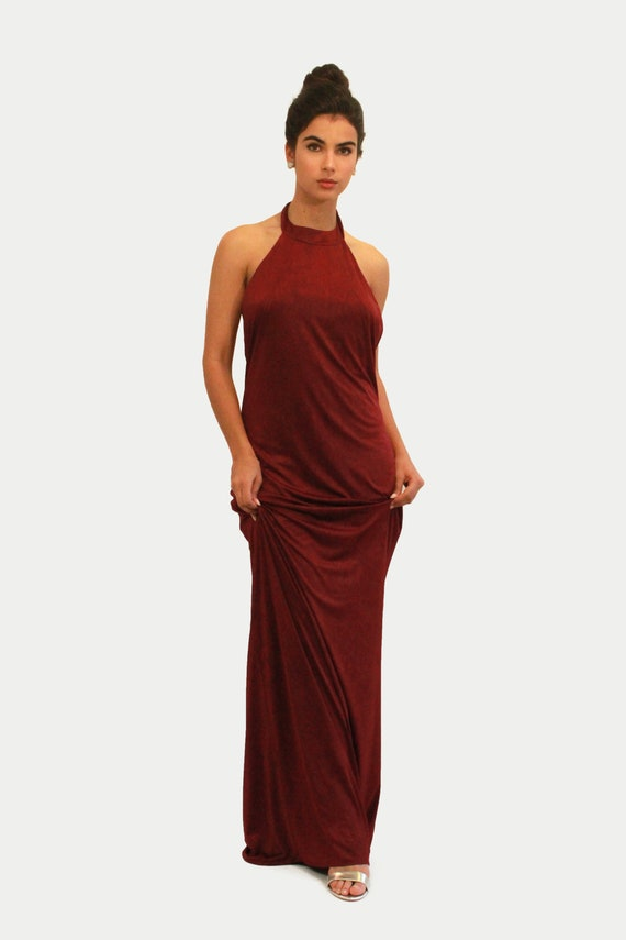 Prom Dress Bridesmaid Dress Maxi Dress Burgundy Dress Long