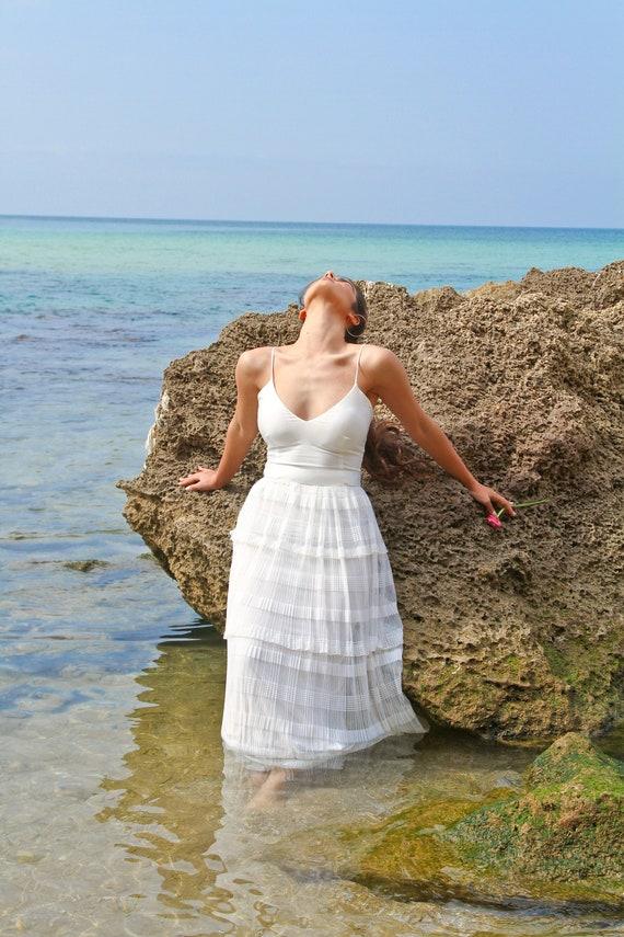 Wedding Dress Dress Boho White Long Wedding White Wedding Wedding Wedding Bridal Ivory Dress Dress Gown Beach Dress Dress Wedding tqY1gqx