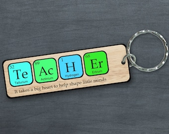 Periodic table gift etsy teacher keyring periodic table science themed it takes a big heart to help shape little minds great school leaving gift urtaz Choice Image