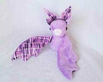 Purple Bat Stuffed Animal Plushie