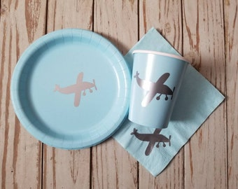 Airplane Plates Etsy