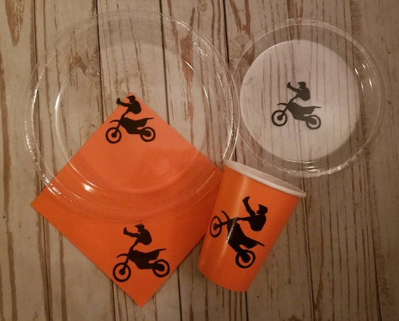 Dirtbike plates, cups and napkins, dirtbike birthday party, dirtbike first birthday, dirtbike baby shower, dirtbike party, dirtbike party