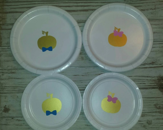Pumpkin gender reveal party plates, cups, napkins, pumpkin baby shower, fall baby shower, pumpkin baby shower plates, cups, pumpkin reveal