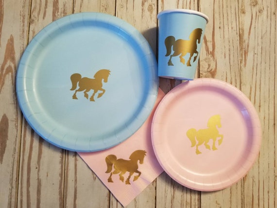 Horse plates, cups and napkins, horse party plates, cups, napkins, cowgirl, cowboy, horse party, cowboy party, horse baby shower, birthday