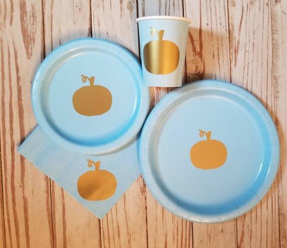 Pumpkin plates, fall plates, pumpkin tableware, fall party, little pumpkin party, pumpkin baby shower, fall wedding shower napkin, harvest