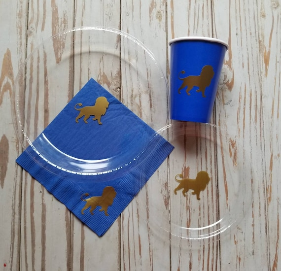 Lion party plates, cups and napkins, lion birthday party, safari baby shower, safari first birthday, safari party plates, cups and napkins,