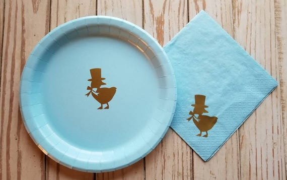 Duck birthday party plates, cups, napkins, first birthday plates, Easter plates, boy baby shower plates, cups, duck party, rubber duck party