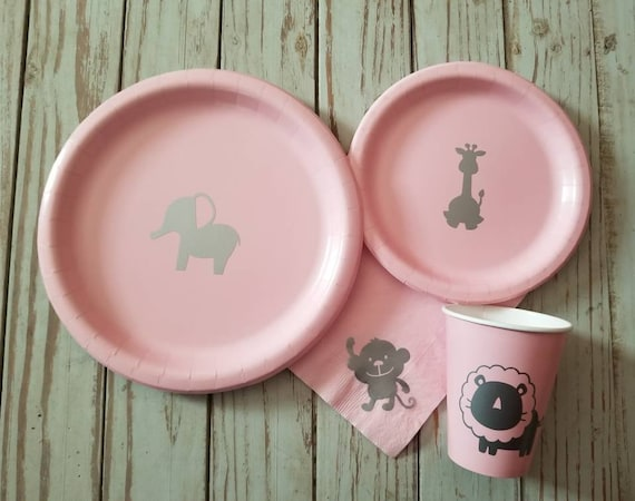 Safari, giraffe, zoo party plates, cups, napkins, safari baby shower plates, cups, zoo baby shower, first birthday plates, cups, napkins,