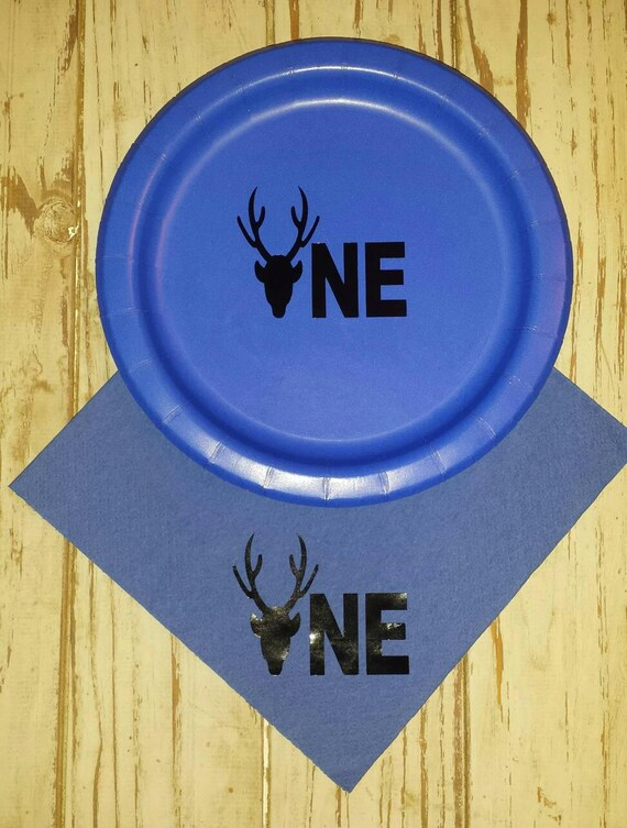 Deer first birthday plates, cups, napkins, hunting first birthday party plates, cups, buck plates, cups, hunting party, deer plates, cups
