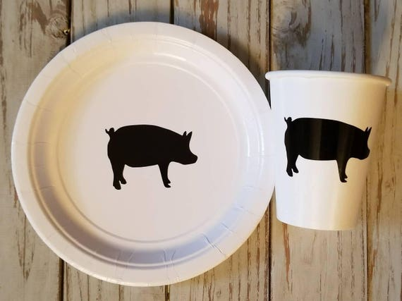 Farm birthday plates, cups, napkins, farm first birthday, farm baby shower, tractor party plates, tractor birthday, tractor baby shower,