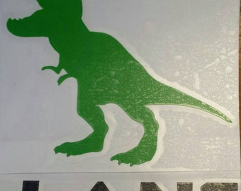 Dinosaur decal, dinosaur sticker, mens tumbler decal, kids decal, kids cup decal, trex decal,  mens decal, dinosaur decal, kids cup decal