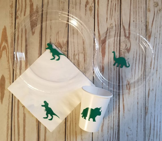 Dinosaur party plates, cups and napkins, trex party cups, plates napkins, dinosaur first birthday party, dinosaur baby shower, trex birthday