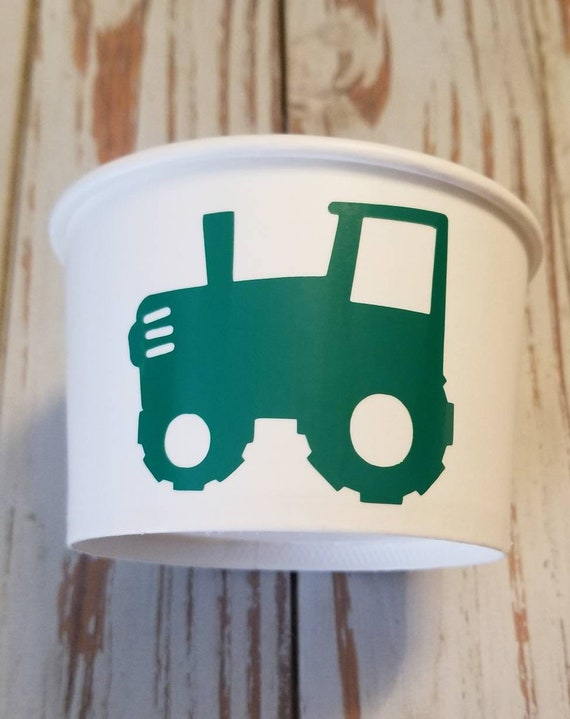 Tractor treat cups, tractor party favor cups, tractor treat bags, farm party, farm birthday, tractor birthday, set of 12