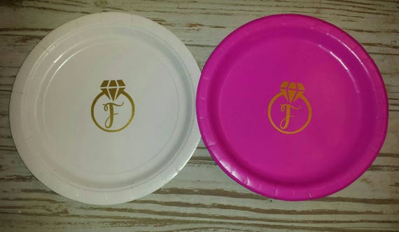 wedding bridal shower plates cups napkins bachelorette etsy