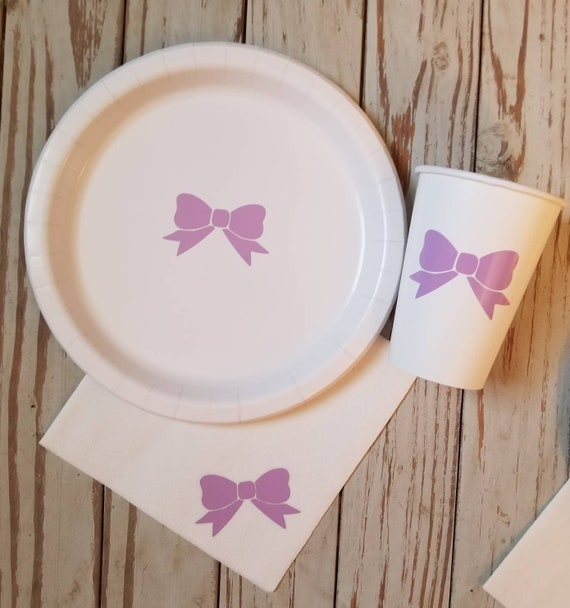 Girl Baby Shower Plates Cups And Napkins Girl Baby Shower Etsy