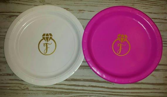Wedding, bridal shower plates, cups, napkins, bachelorette plates, bridal shower, wedding cake plates, Bachelorette plates, bridal plate