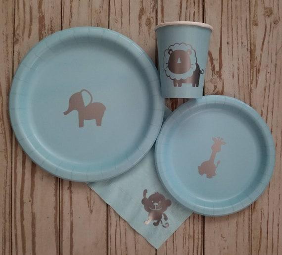 Safari, jungle, baby shower, birthday, plates, cups, napkins, circus birthday, jungle party, jungle plates, safari shower, elephant plates