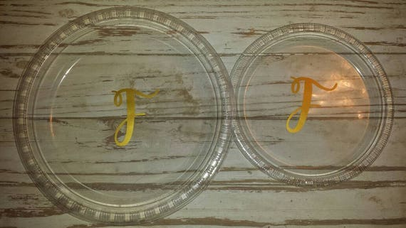 monogrammed plates cups and napkins wedding shower plates etsy