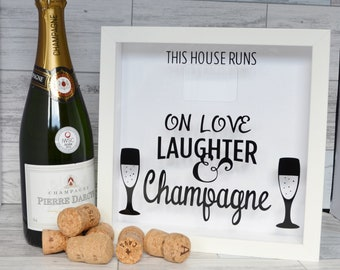 Champagne Gifts, House Warming Gift, Prosecco Gift, Champagne Cork Holder, Wine Lovers Gift, Wine Cork Holder,  Wedding Gift