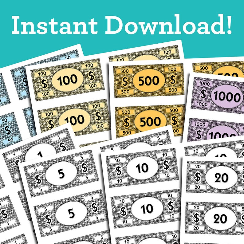Replacement board game money PDF download