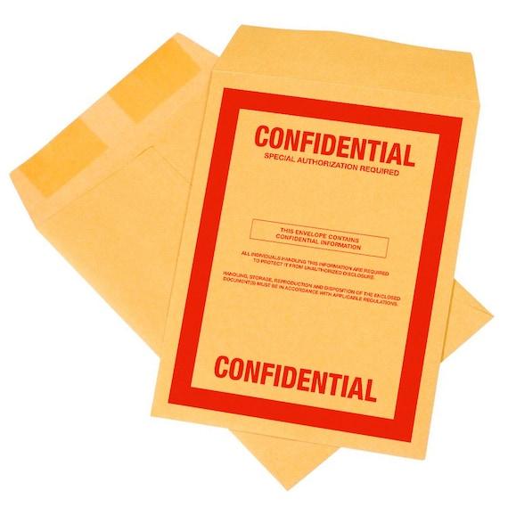 10 pack confidential top secret classified 9x12 envelopes