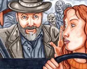 John and Dakota, Fear The Walking Dead, Fan Art, Sticker