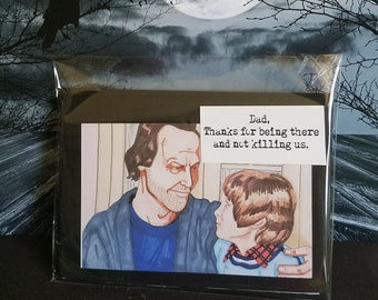 The Shining, Card, Father, Interactive, Handmade, Layered, Horror