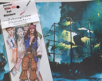Johnny Depp Characters, sticker set, fan art