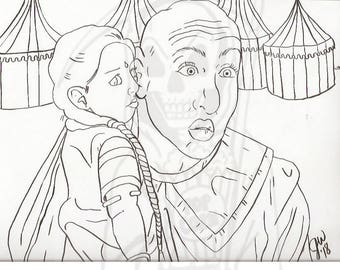 American Horror Story, Freak Show, Ma Petite, Pepper, Coloring Page