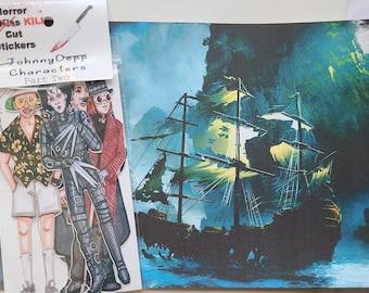 Johnny Depp Sticker Set, Fan Art, Part Two