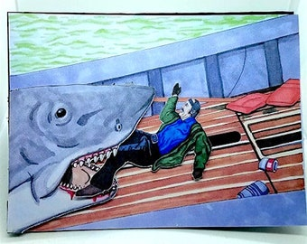Jaws, Greeting Card, Encouragement, Condolences, Hand Made