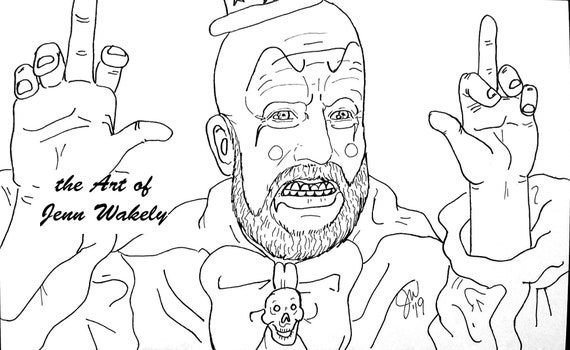 Captain Spaulding Coloring Page House Of 1000 Corpses Clown Etsy