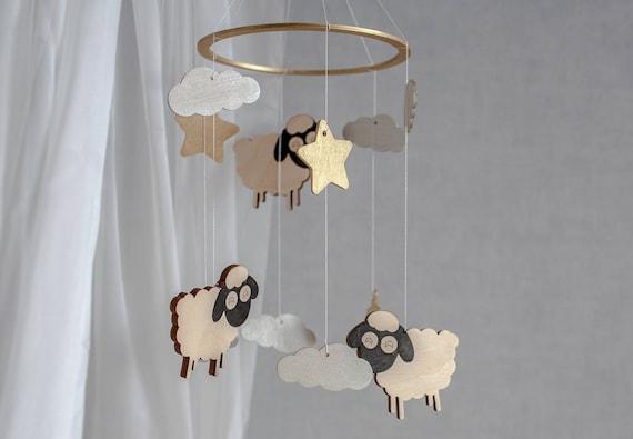 Baby Mobile Sheep Sheep Baby Mobile Sheep Mobile Crib Etsy