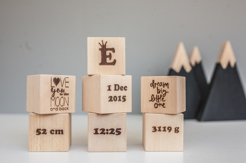 Blocks With Name Block Letters Baby Shower Block For Etsy