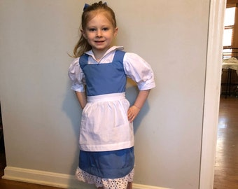 belle blue dress costume for adult woman girls toddler or infantbaby