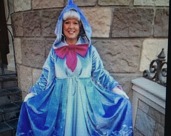 Custom Cinderella Fairy Godmother Costume, Dress, Gown for Girls, Toddler, Infant, or Adult Woman/Women