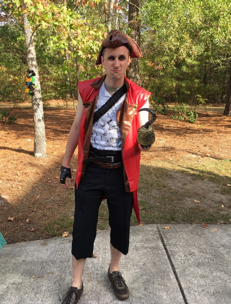 Descendants 2 Harry Hook Vest, Shirt, Belt Halloween Costume for Boys and  Adult Men