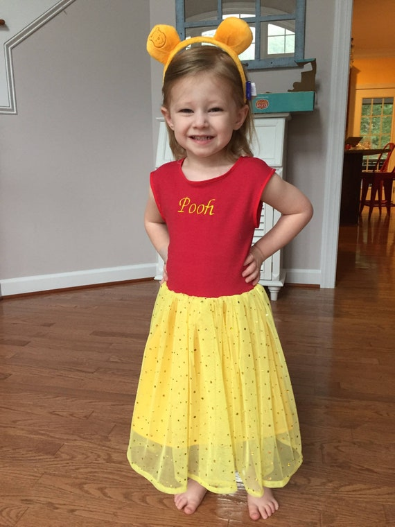 6ce2acf87833 Winnie the Pooh Costume or Birthday Outift Dress Tutu from