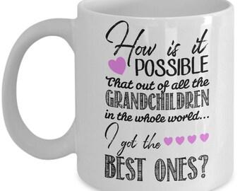 Proud Grandma Mug - Best Grandchildren in the World - Grandma mug