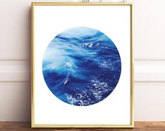 Ocean Print, Ocean Printable, Ocean Wall Art, Wave Print, Wave Wall Art, Waves Print, Sea Printable, Sea Waves Printable, Instant Download