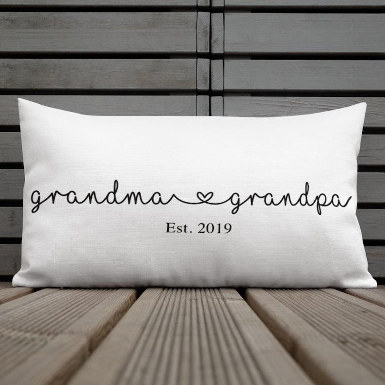 Grandma and grandpa pillows New grandparents gift New image 0