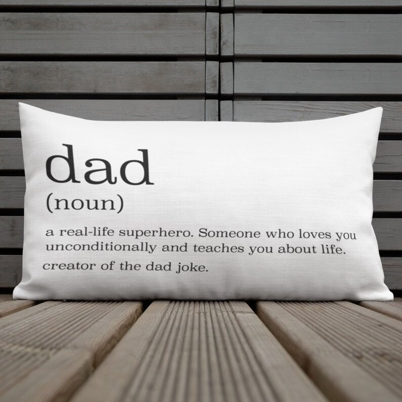 Dad Definition Gift Dad Definition Pillow Gift For Dad Etsy