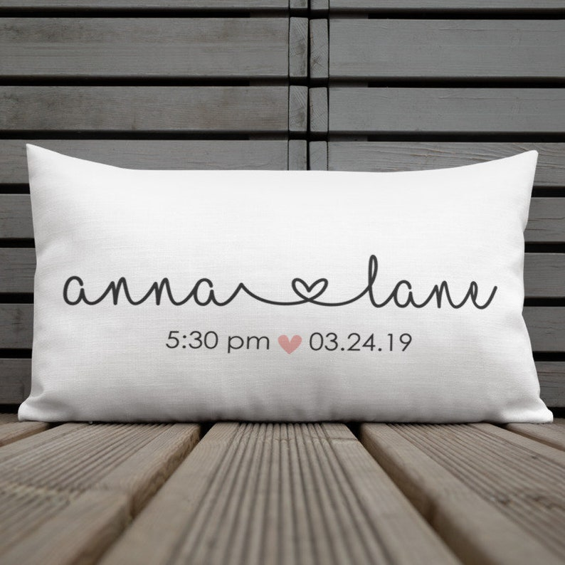 54585374b63be Personalized Baby Girl Pillow, Personalized Baby Pillow Cover, Baby Name  Nursery Pillow, Birth Stats Pillow, Custom Nursery Pillow Case