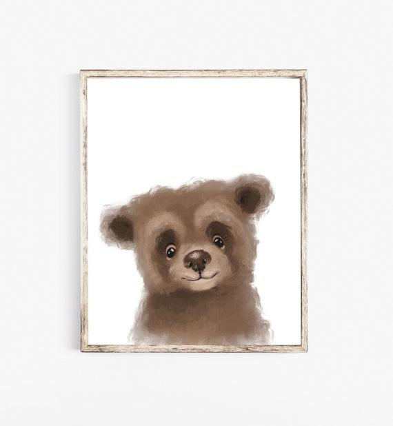 4e41920ce1c8a Nursery wall decor, Bear nursery decor, Bear nursery art, Bear wall art,  Bear nursery print, Bear print, Bear illustration, Bear painting