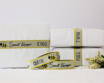 Sheet Keepers (set of 2)-Bed Sheet Organizers/Sheet Bands/Sheet Straps/Straps for Linen/ Closet Organization