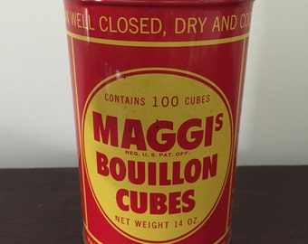Maggis Bouillon Cube Tin Can (Empty)