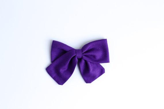 Girls Hair Clip Plum hair bow Newborn Headband Classic Hair Bow Fabric Hairbow Newborn Hairbows Baby Headband Plum bow