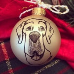 Personalized Pet Caricature Christmas Ornament